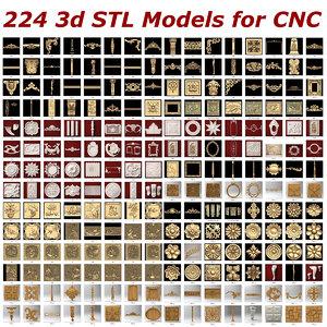 224 stl files cnc 3d 3ds