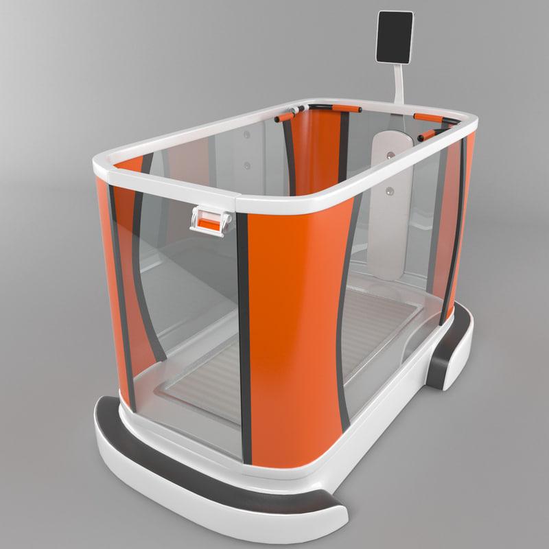 aquatic treadmill 3d max