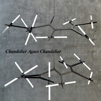 3d model handelier agnes chandelier
