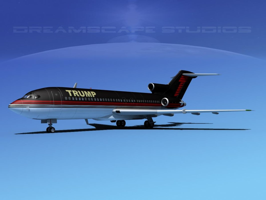 3d model trump boeing 757 aircraft airplane