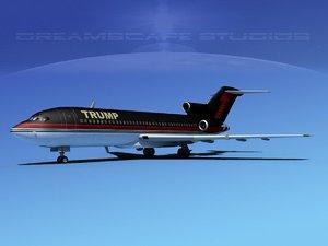 airline trump boeing 727 3d max