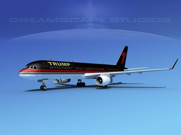 3d model airline trump boeing 757