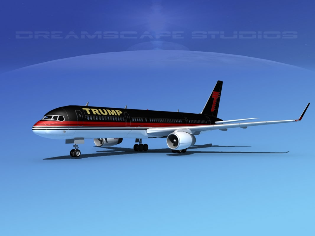 3d model airline trump boeing 757