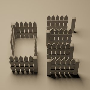tileable picket fence 3ds free