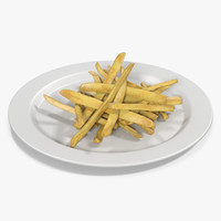 french fries 2 3d fbx