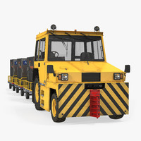 Push Back Tractor Hallam HE50 Carrying Passengers Luggage 3D Model