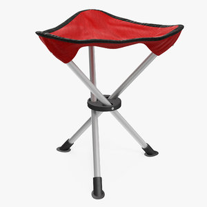 folding tripod fishing camping 3d max