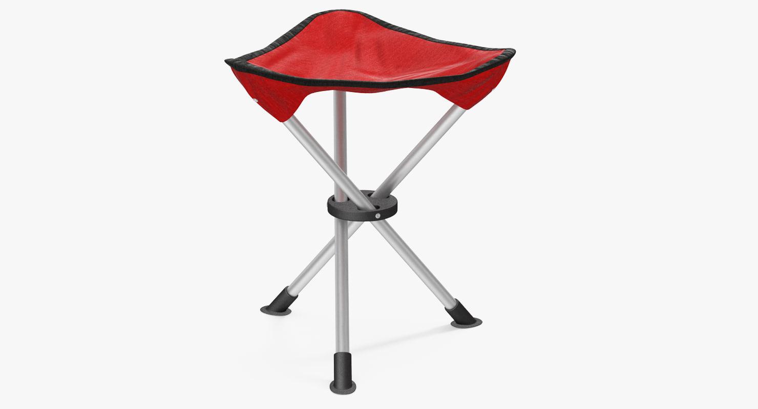 folding tripod fishing camping 3d max