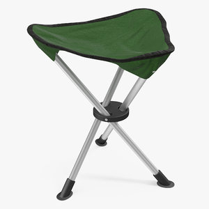 3d model folding tripod travel stool