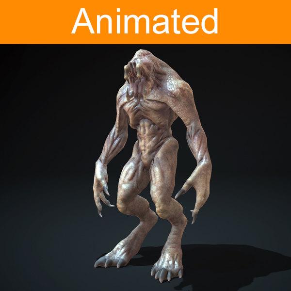 character creature devourer 3d model