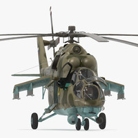 3d russian helicopter mi model