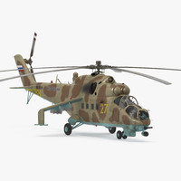 russian helicopter mil mi-24 hind 3ds