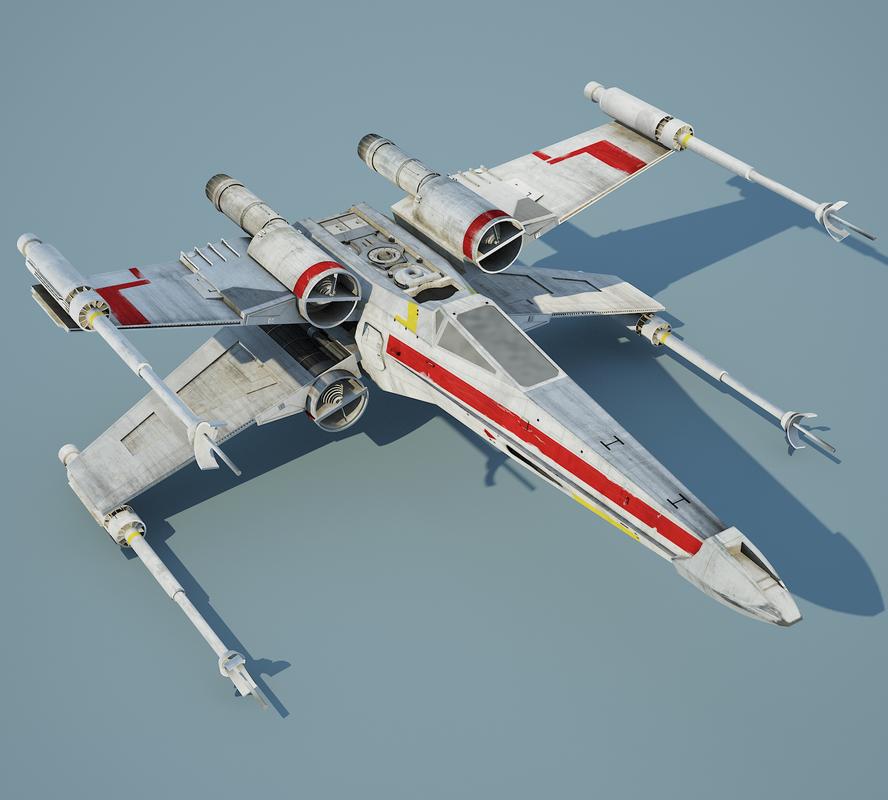 star wars x-wing r2-d2 3d obj