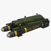 3d model agm-114 hellfire missile 1