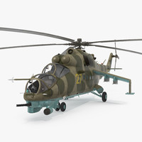 3d model russian helicopter mil mi-24