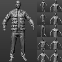 21 outfits 3d model