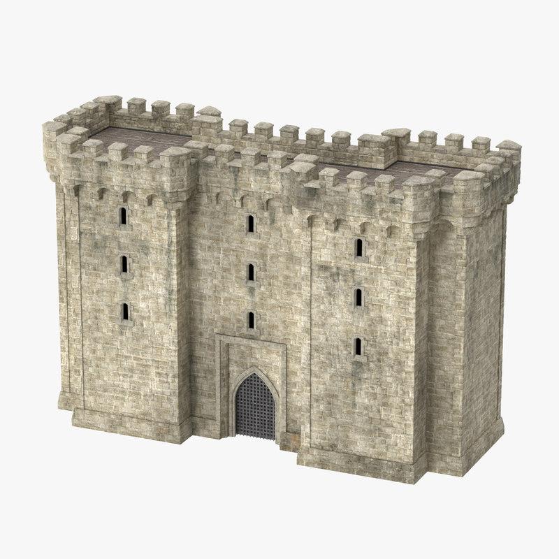 3d medieval turret - castle