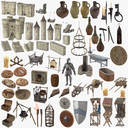 Medieval Collection - 52 Objects and 17 Castle Set Models