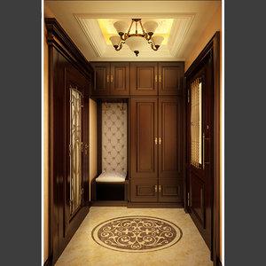 3d house vestibule model