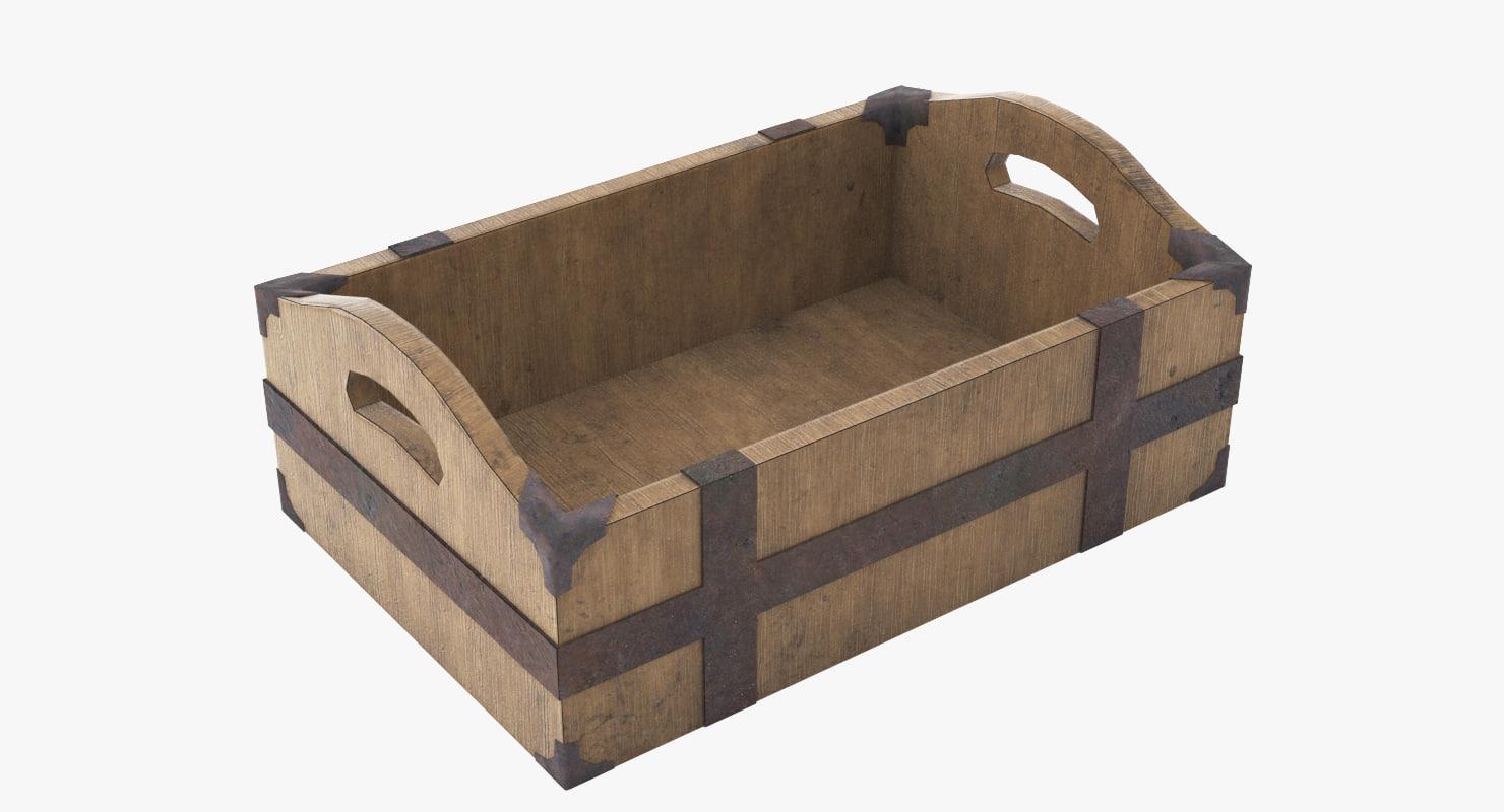 asset medieval box 3d model