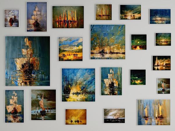 3d model pictures autumn ships