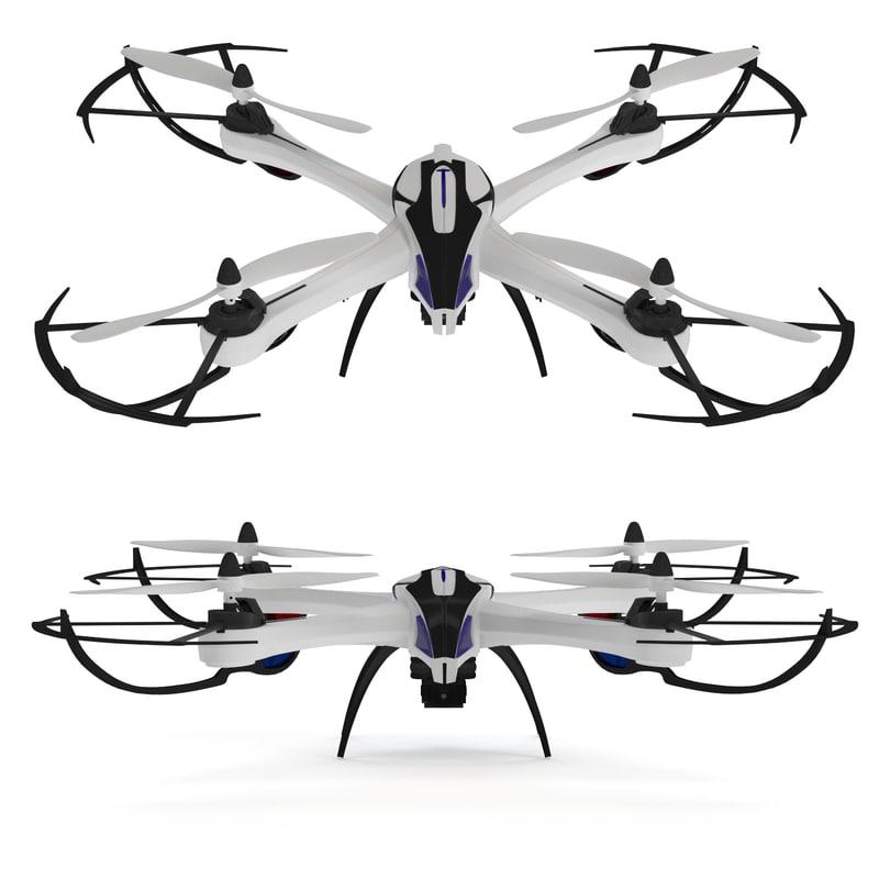 3d model of jjrc drone tarantula