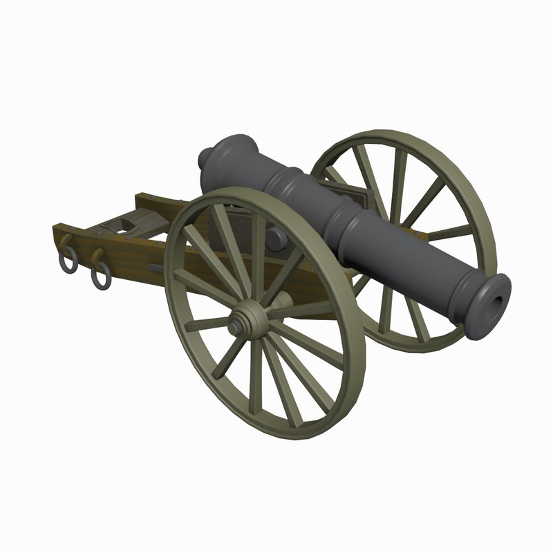 3d cannon gun model