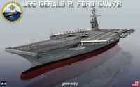 3d uss gerald r cvn-78