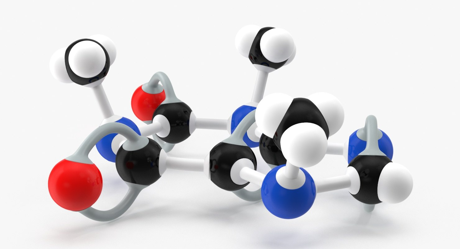 3d model caffeine molecule