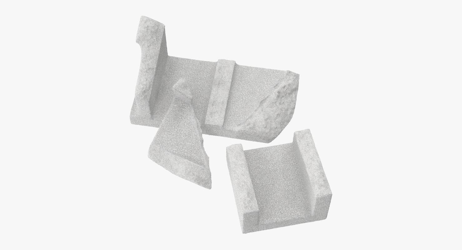 cinder blocks broken 01 max