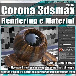 Corona 1.5 in 3dsmax 2015 Rendering e Material Vol 2.0 Cd Front