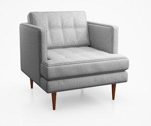 3d peggy century armchair