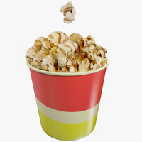 3d model small popcorn