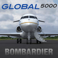 3d model business jet bombardier global
