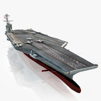 3d model uss gerald r aircraft carrier