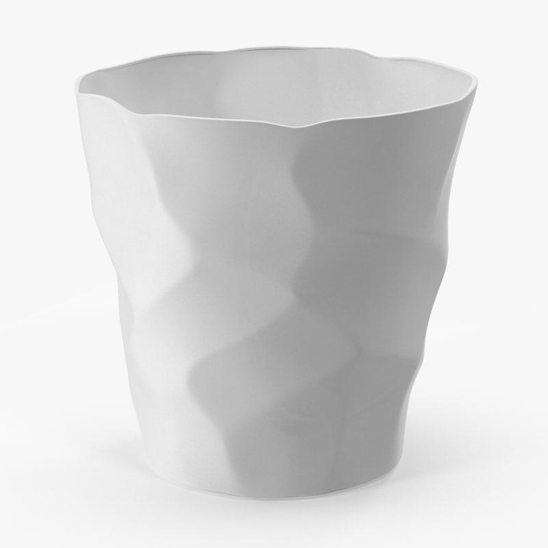 3d model white ceramic cup