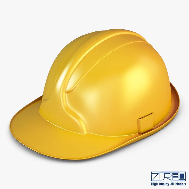 hard hat yellow v 3d model