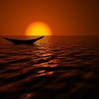 sunset scene 3d model