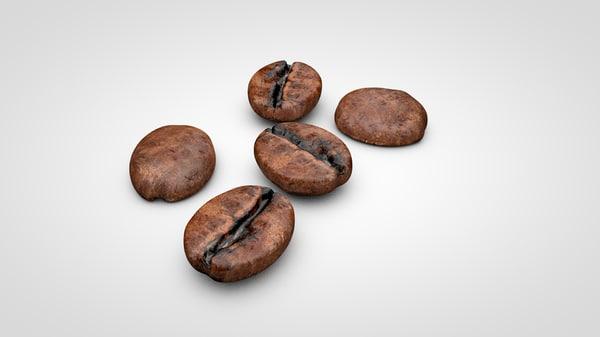 coffee beans c4d