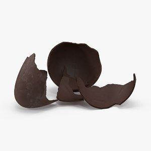 3d model broken chocolate easter egg