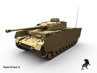 3d model panzer iv ausf h