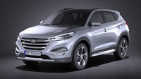 Hyundai Tucson EU-Version 2017 VRAY