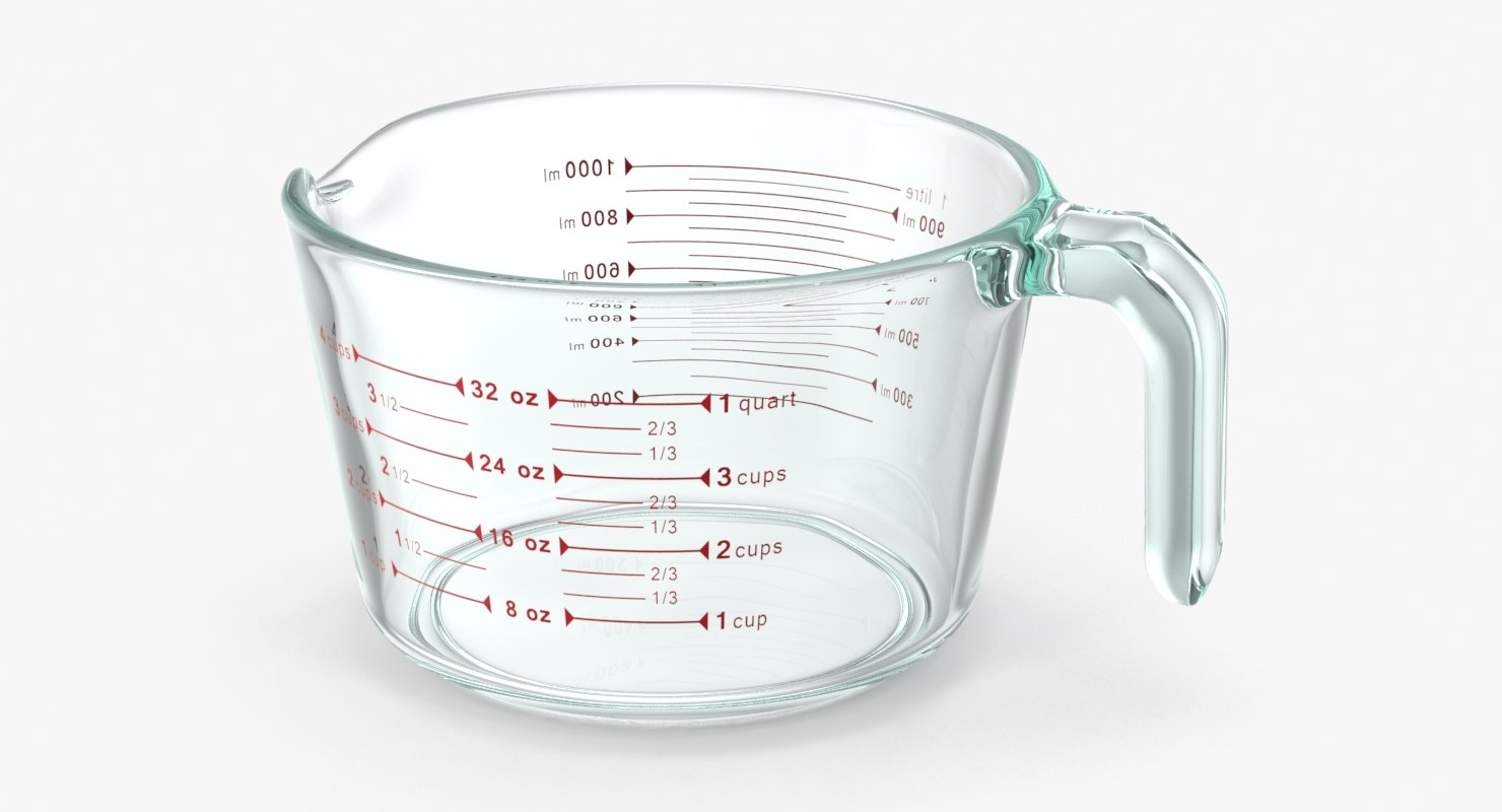max measuring cup glass