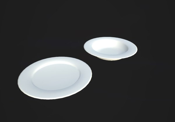 3d model 2 types dishes