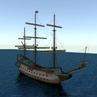 voc-ship 3d model