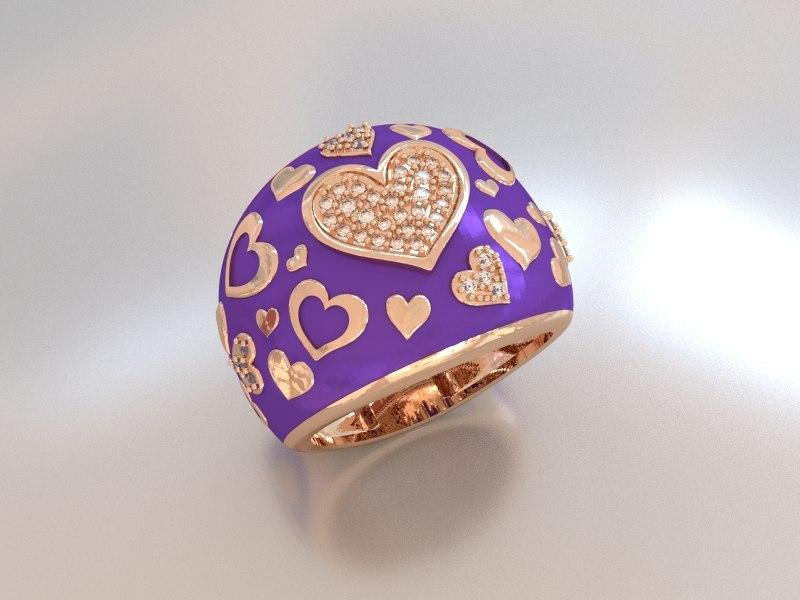 3d loverring ring