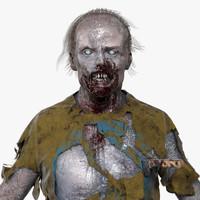 3d model standard zombie character man