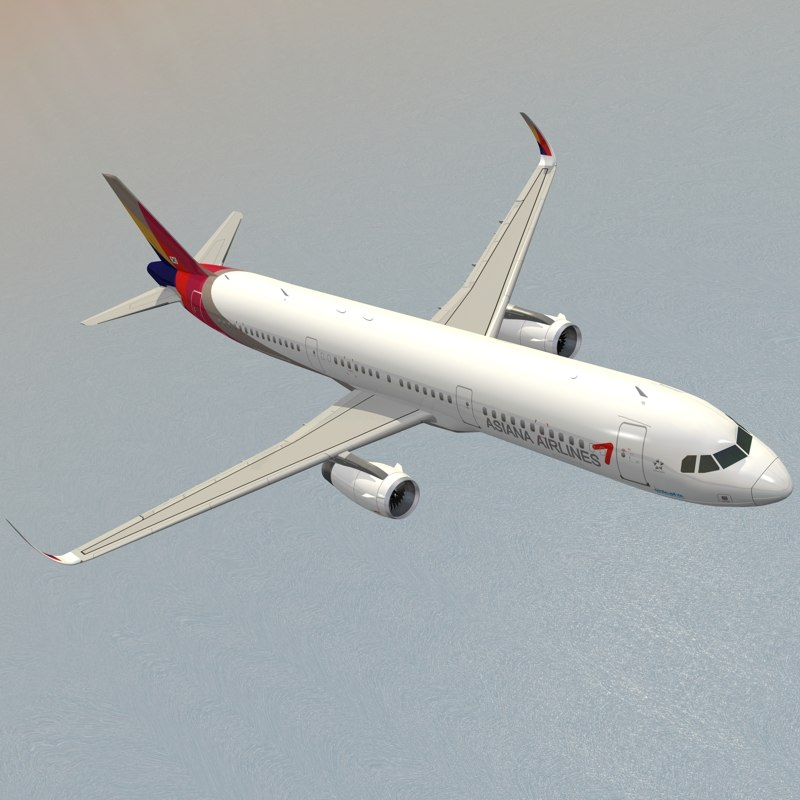 sharkleted airbus a321neo asiana 3ds