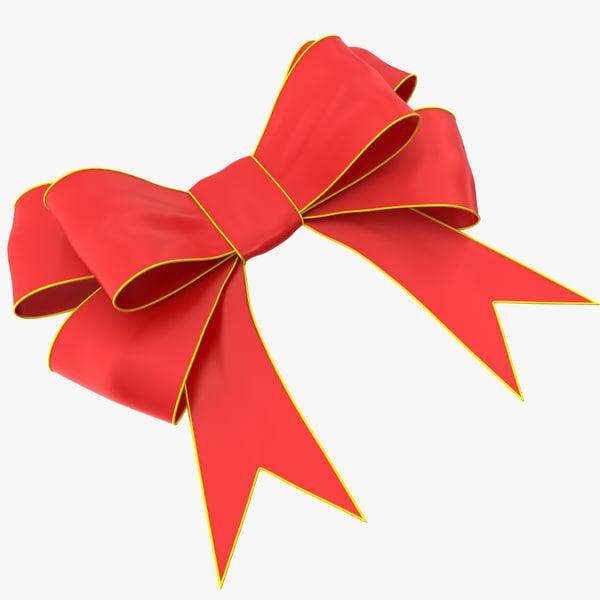 3d ribbon bow model