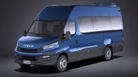 minibus bus iveco 3d c4d